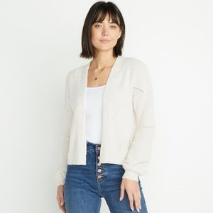 Marine Layer Oversized Cream Knit Cardigan XS